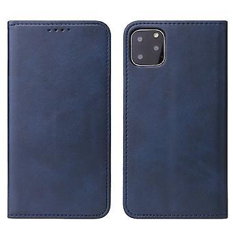 Flip folio leather case for samsung a71 blue pns-2045