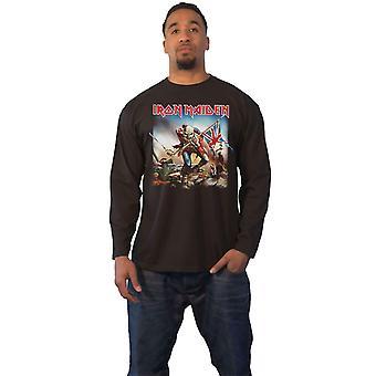 Iron Maiden T Shirt Mens Trooper eddie ny svart Officiell Långärmad
