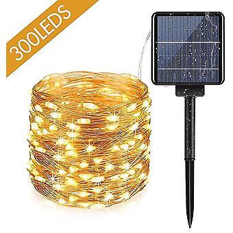 100 Leds outdoor solar string lights with 8 light modes waterproof solar string light for dt7177