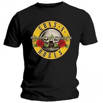 Guns N Roses Classic Logo Miesten Musta T-paita Suuri