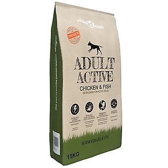Premium Dog Food Dry Adult Active Chicken & Amp; Amp; Fisch 15 Kg