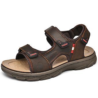 Men's Comfortable slippers 1EZ2022 Dark brown