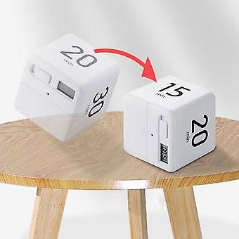Cube Home Timer Square Madlavning Tælle Op Nedtælling Alarm Sleep Stopur Ur (hvid)