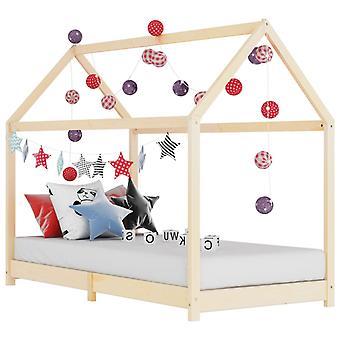 vidaXL الأطفال إطار السرير الصلب الصنوبر الخشب 70 × 140 سم