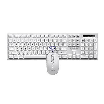 Desktop computer, laptop, ultra slanke draadloze toetsenbord muis combo set (wit)