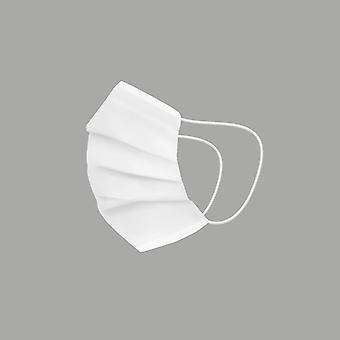 Máscara de tecido reutilizável higiênico branco infantil