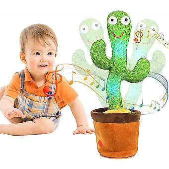 Cactus Peluche Toy Electronic Dancing Cactus Chinese 120 Songs Luminous Recording