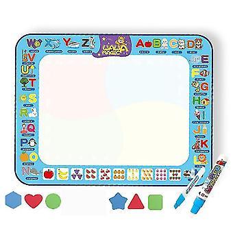 Magic Water Drawing Mat, Doodle Drawing Mat,mess Free Educational Toys Bring Magic Pens(Package 1)