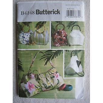 Butterick ompelu kuvio 4148 käsilaukut Kosmetiikka pussit leikkaamaton