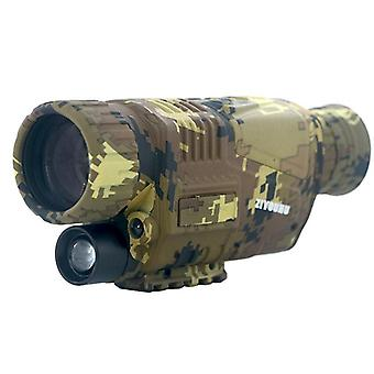 5X40 hd infrared digital night vision monocular night scope camera for hunting camouflage telescope