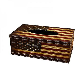 Wooden Tissue Box, Paper Towel And Napkin Dispenser Container, Retro Case For Home And Office Decoration