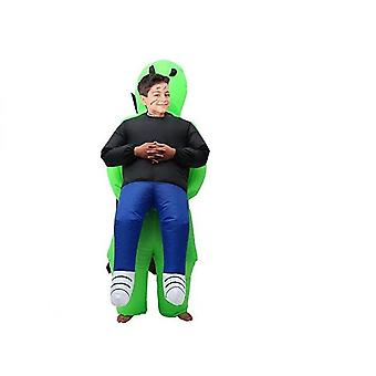 Green Alien Carrying Human Costume Inflatable Halloween Carnival Party Costume