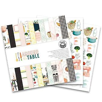 Piatek13 12x12 Paper Pad - Autour de la table - Cuisine & Thème de recette
