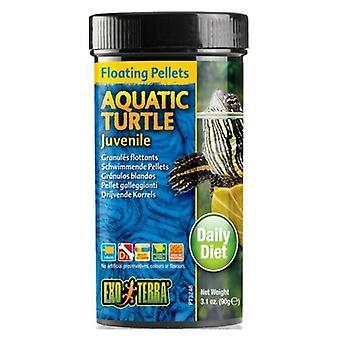 Exo Terra Floating Pellets Juvenile Aquatic Turtle Food - 3.1 oz