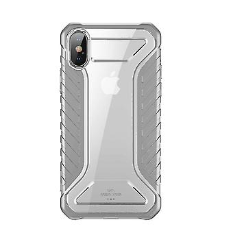 Power adapter charger accessories shockproof dropproof protective case for iphone xs hybrid pc tpu back cover gray color