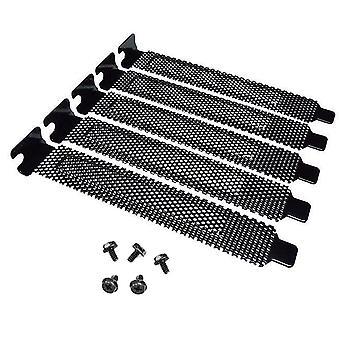 5pcs שחור Pci חריץ לכסות אבק סוגר ריק מארז מחשב שולחני מחשב שולחני + ברגים