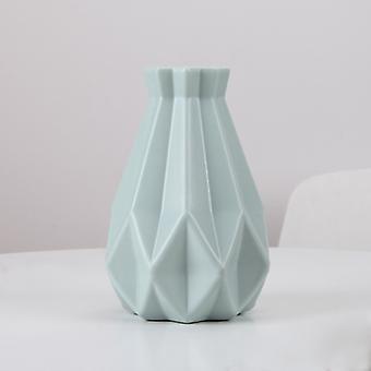Blomstervase av plast, Hjemmedekorasjon, Hvit, Imitasjon Keramisk, Blomsterpotte, Nordisk stil Blomsterkurv
