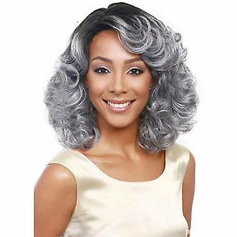Brand Mall peruukit, pitsi peruukit, realistinen pörröinen lyhyt hiukset kihara peruukit