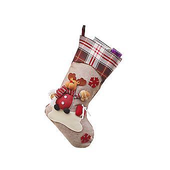 Swotgdoby Christmas Decoration Socks, Cute Snowman & Santa Claus & Elk For Home Dcor