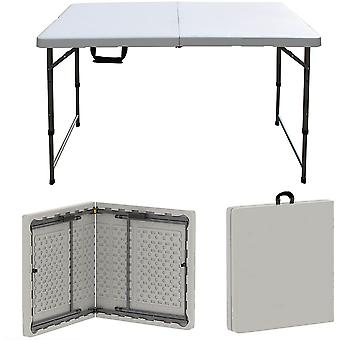 Folding Table 4ft Portable Plastic Tables Camping Garden Party Trestle