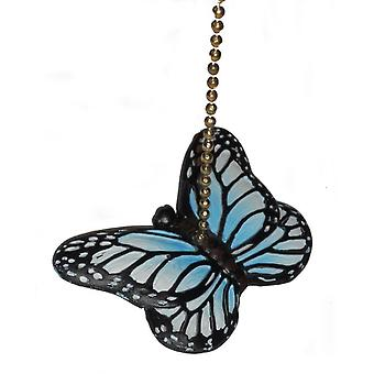 Blue Monarch Butterfly Ceiling Fan Pull or Light Pull Chain