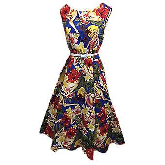 BOOLAVARD Women's Audrey Hepburn 1950's Rockabilly Dress + Laundry Bag + Gift /
