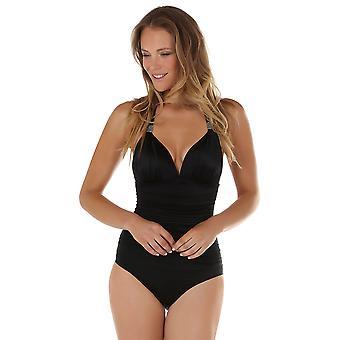 Seaspray 33-2347 Women's gewoon kleur zwart badpak vormgeven