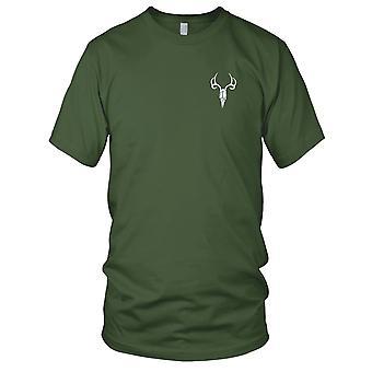Elg SKULL brodert Patch - Mens T-skjorte