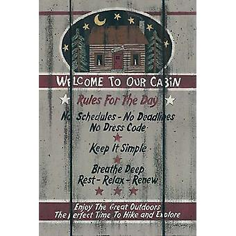 Cabin Rules for the Day Poster Print by Linda Spivey (12 x 18)