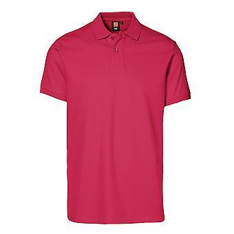 ID Mens Short Sleeve Pique Stretch Polo Shirt