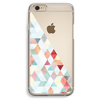 IPhone 6 6 s transparentes Gehäuse (Soft) - farbige Dreiecke Pastell