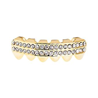 One size fits all bling Grillz - DOUBLE DECK BOTTOM - gold