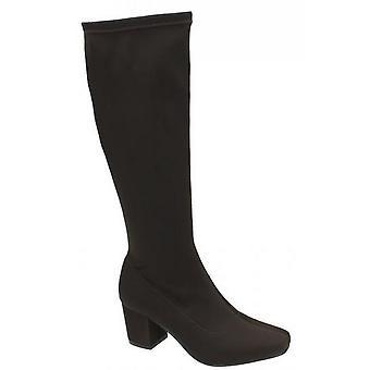 Spot sobre mulheres/senhoras, altura do joelho, botas