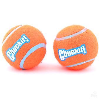 Chuckit Dog Tennis Ball Medium 6.5cm, 2 per pack, Dog Toy