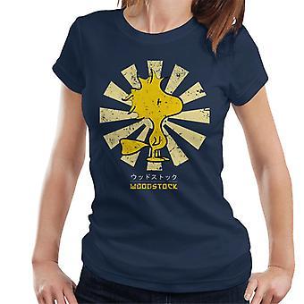 Erdnüsse Woodstock Retro-japanische Damen T-Shirt
