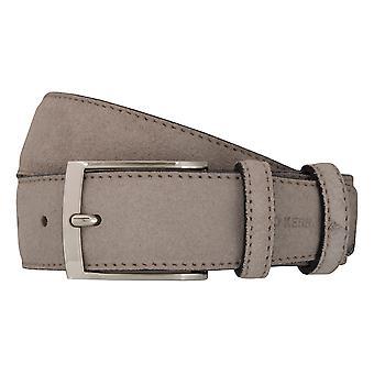 OTTO KERN belts men's belts leather belt suede mud/beige 7015