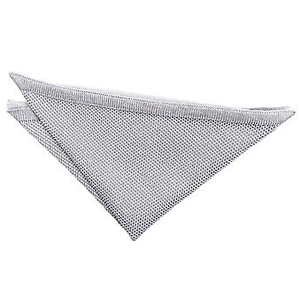 Silver Knitted Pocket Square