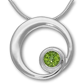 Sterling Silver Traditional Scottish August Birthstone Peridot Hand Crafted Necklace Pendant