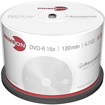 Primeon 2761204 Blank DVD-R 4.7 GB 50 pc(s) Spindle Silver matte surface