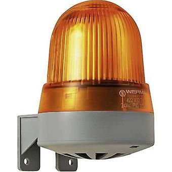 Combo ecoscandaglio Werma Signaltechnik 423.310.75 giallo Flash 24 V AC, 24 Vdc 92 dB