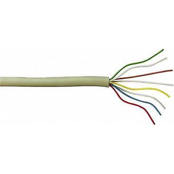 J-Y (ST) Y wewnątrz telefonu kabel 2 x 2 x 0.6 mm, szary otuliny