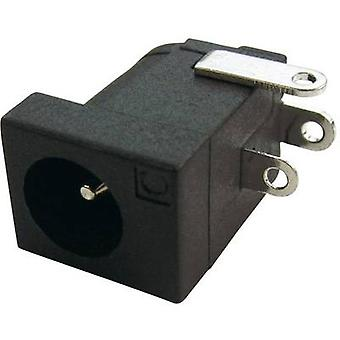 Cliff DC - 10L lage voedingsconnector Socket, horizontale mount 4 mm 2.1 mm 1 PC('s)