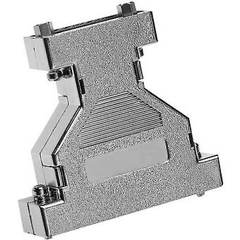 Provertha 671515M D-SUB adapter housing Number of pins: 15, 15 Plastic, metallised 180 ° Silver 1 pc(s)