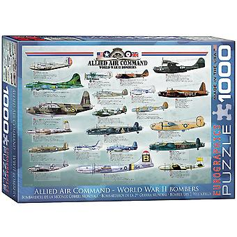 World War 2 bombefly (Allied Air Command) 1000 brik puslespil