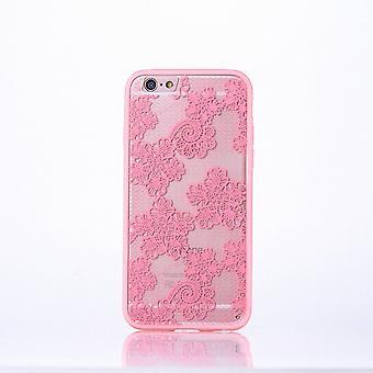 Mandala caso Mobile para iPhone Apple 7 além de flores de motivo de capa case projeto cobrem a mochila Rosa para-choques