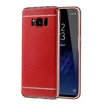Caja del teléfono celular para Samsung galaxia A3 2016 protección caso arte tope de cuero rojo