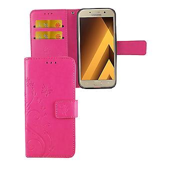Fiori di coperchio di protezione per Samsung Galaxy A3 2017 rosa