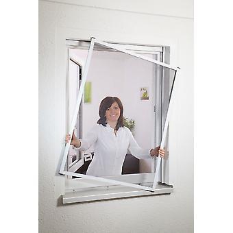Fensterbausatz Fliegengitter 130 x 150 cm in Weiß