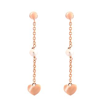Orphelia Silber 925 Drop Ohrringe Rose Gold Pearl - ZO-7378