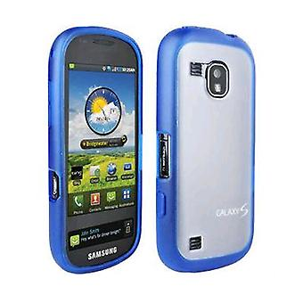 OEM Verizon Samsung Continuum Galaxy S SCH-i400 Plastic Frosted Case, TPU Grip (Blue) (Bulk Packaging)